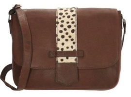 Micmacbags schoudertas Wildlife Donker Taupe XL