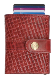 Leather Design Safety Wallet S Bordeaux