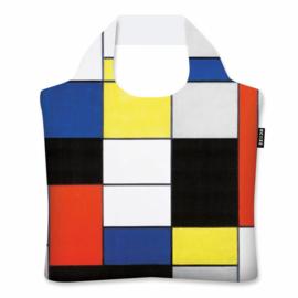 "Ecoshopper Draagtas  ""Compositie A"" Piet Mondriaan"