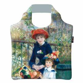 "Ecoshopper Draagtas ""Twee zusjes"" Pierre Auguste Renoir"