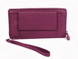 Exclusive Clutch & Wallet Fuchsia Leder