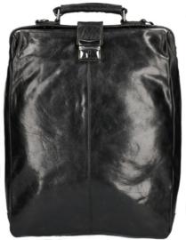 Leather Design Rugzak & Schoudertas Zwart