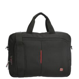 Enrico Benetti Laptoptas Cornell 15.6 inch Zwart