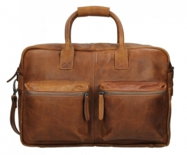 Chesterfield Handtas - Schoudertas  Westernbag William Cognac