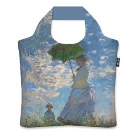 """Ecoshopper Draagtas """"Vrouw met parasol"""" Claude Monet"""