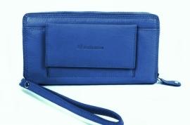 Clutch & Wallet Skydiver Blauw Leder