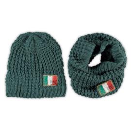 Vingino Venezio Boys set sjaal en muts Wood Green S/M