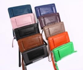 Exclusive Clutch & Wallet Paars Leder