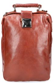 Leather Design Leren Rugzak & Schoudertas Cognac