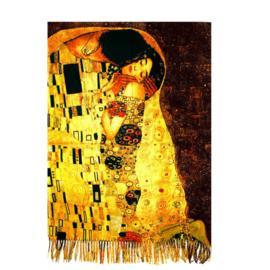 """Sjaal Gustav Klimt """"de Kus"""""""