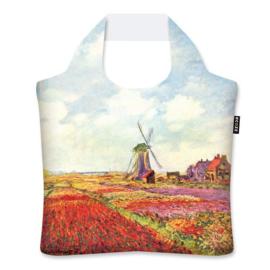 "Ecoshopper Draagtas ""Tulpenvelden in Holland"" Claude Monet"