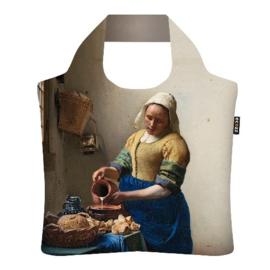 """Ecoshopper Draagtas """"Het melkmeisje"""" Johannes Vermeer"""