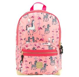 Pick & Pack Rugzak Zebra & Flamingo Roze M