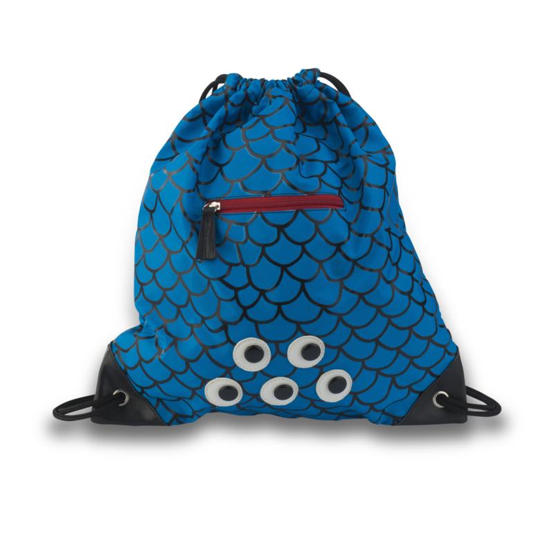Zebra Trends Luxe Zwemtas met rits Schubben Blauw