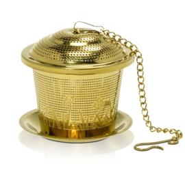 """Theeinfuser """"basket"""" goudkleur Ø 55 mm."""