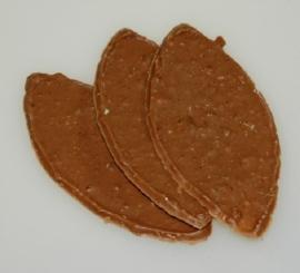 Chocolade nougatblaadjes melk 100 gram