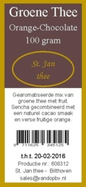 Groene thee orange-chocolate 100 gram