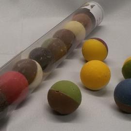 Chocolade Bikkels assorti à 10 stuks (koker 25 cm)