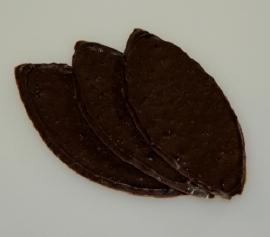 Chocolade nougatblaadjes puur 100 gram