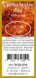 Rooibos Crème brûlée thee 100 gram