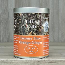Kadoblik groene thee orange-ginger 100 gram