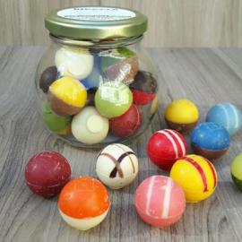 Chocolade Bikkels assorti à 16 stuks (glazen potje)