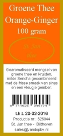 Groene thee orange-ginger 100 gram