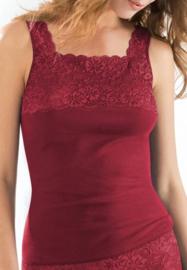 Hemd Nina von C, hoge hals rubin