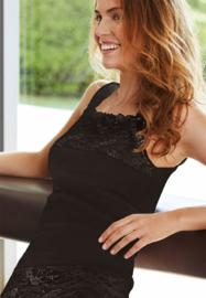 Hemd Nina von C, hoge hals zwart