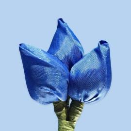 Tulp corsage blauw