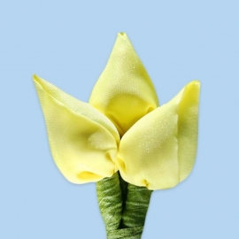 Tulp corsage zacht geel