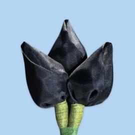 Tulp corsage zwart