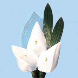 Tulp corsage met sizoflor blad + 2x blad - maatwerk
