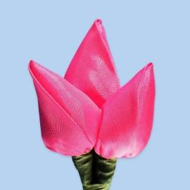 Tulp corsage fuchsia