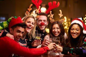 Kerstfeest met familie en vrienden