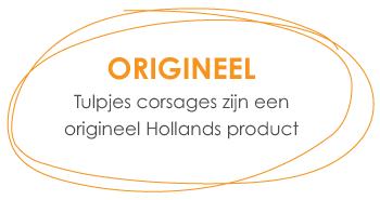Tulpjes corsages zijn een origineel Hollands product