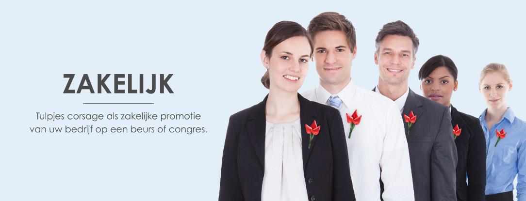 Promotionele, zakelijke corsage voor beurs of congres