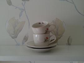 Espresso kop en schotel  (set van 2)
