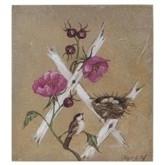 Mooi schilderij met vogel