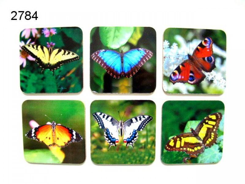 Onderzetters  (6)  Vlinders