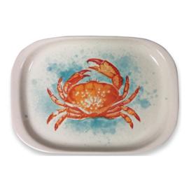 Frutos do Mar rechthoekige aardewerken serveerschaal krab 34 x 24 cm