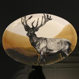 Hunting servies ovalen schaal  39 x 28 cm hert