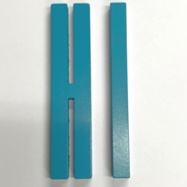 Design Letters Turquoise houten letter 12 cm voor binnen