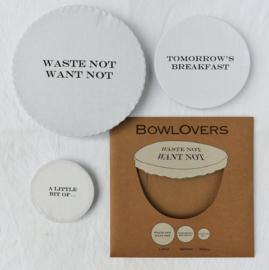 Bowlovers met tekst (3 stuks in 3 formaten)
