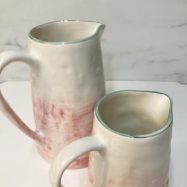Only Rose servies pitcher 2 liter roze groen 22 cm hoog