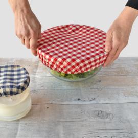 Bowlovers met rood wit ruitje (3 stuks)