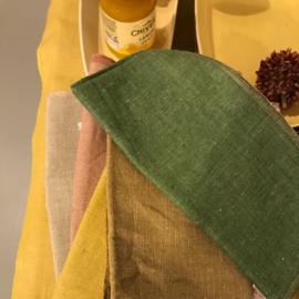 Bungalow katoen-linnen tafelkleed Mirra Lemon Curd 150 x 260