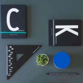 Design Letters kobalt blauw deksel voor porseleinen mok