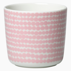 Oiva Siirtolapuutarha Räsymatto set of two mug without ear in white with pink dots