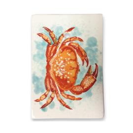 Frutos do Mar serveerplankje Krab, aardewerk met ophangleertje 25 x 17,5 cm